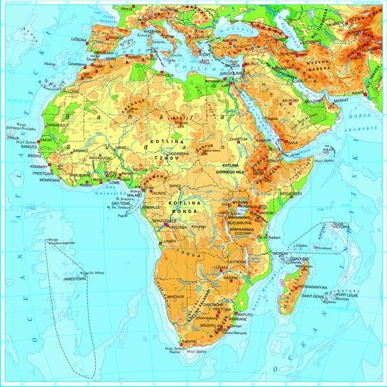 Swiatpodrozy Pl Atlas Afryka Mapa Fizyczna On Line