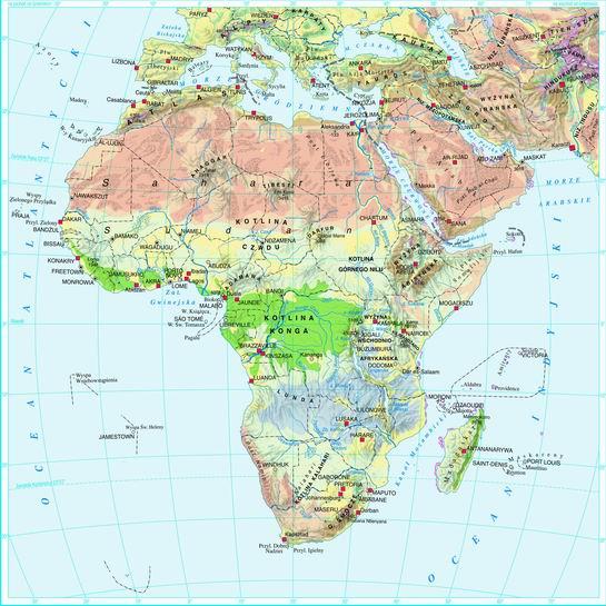 Swiatpodrozy Pl Atlas Afryka Mapa Krajobrazowa On Line