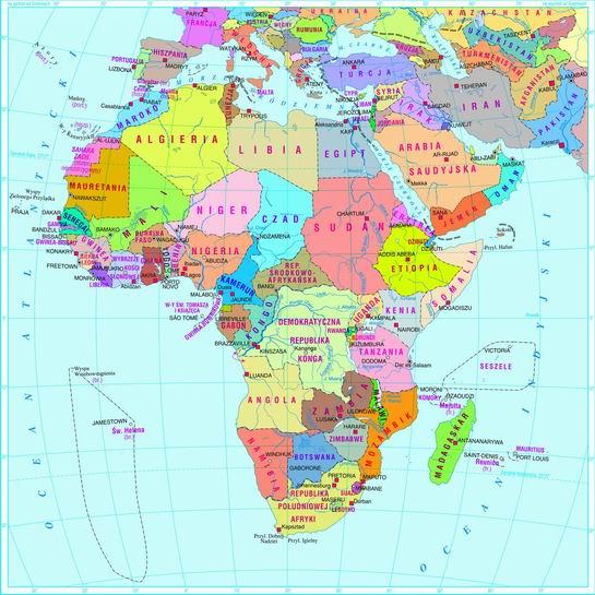 Swiatpodrozy Pl Atlas Afryka Mapa Polityczna On Line