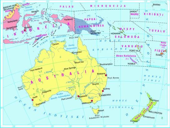 Swiatpodrozy Pl Atlas Australia I Oceania Mapy Online