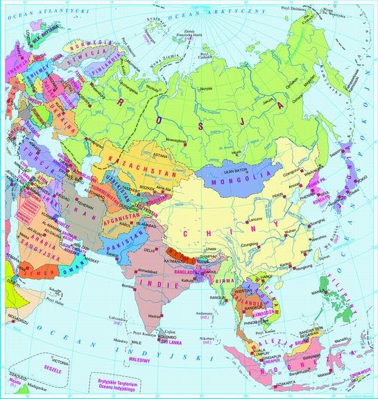 Swiatpodrozy Pl Atlas Azja Mapa Polityczna On Line