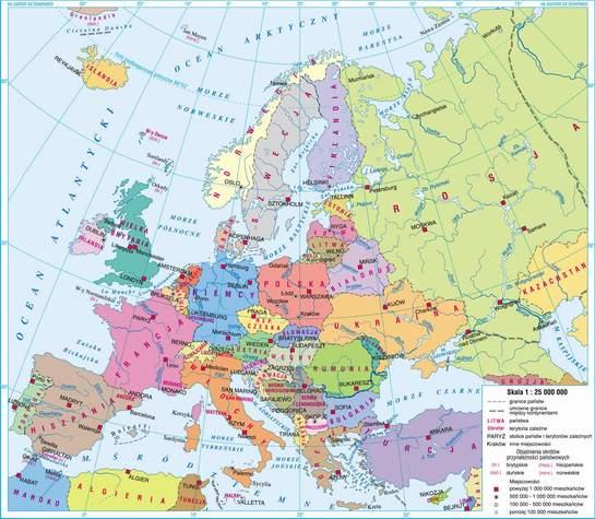 Swiatpodrozy Pl Atlas Europa Mapa Polityczna On Line